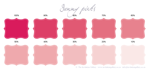 Colour palette: Yummy Pinks