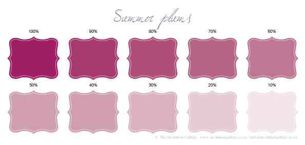 Colour palette: Summer Plums