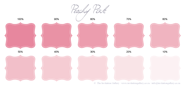 Colour palette: Peachy Pink