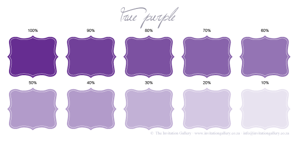 Colour palette: True Purple