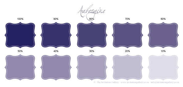 Colour palette: Aubergine