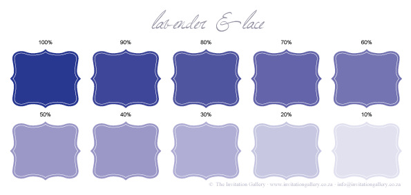 Colour palette: Lavender and Lace