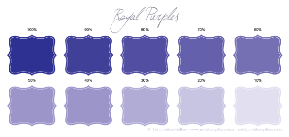 Colour palette: Royal Purples