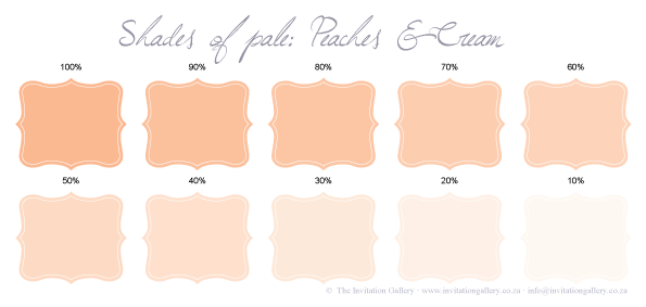 Colour palette: Peaches and Cream