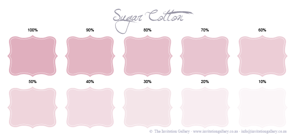 Colour palette: Sugar Cotton