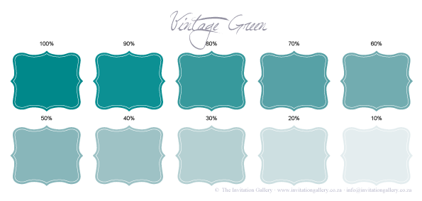 Colour palette: Vintage Green