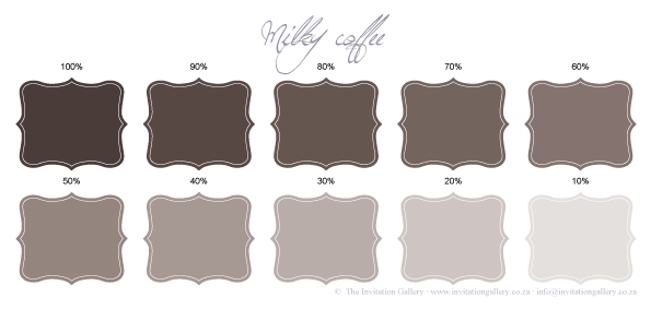 Colour palette: Milky Coffee