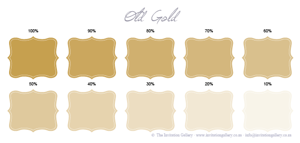 Colour palette: Old Gold