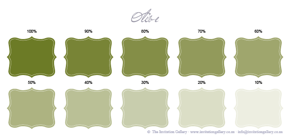 Colour palette: Olive Green