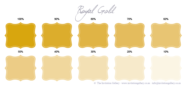 Colour palette: Royal Gold
