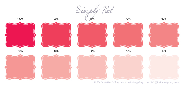 Colour palette: Simply Red