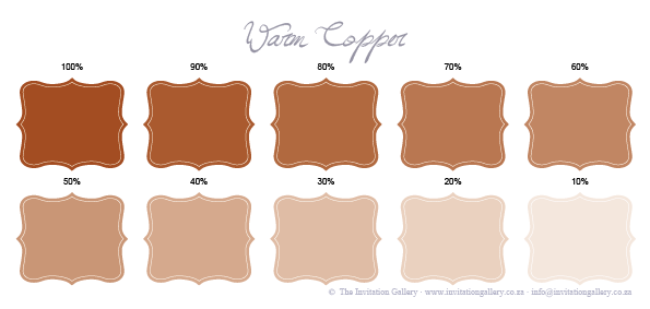 Colour palette: Warm Copper